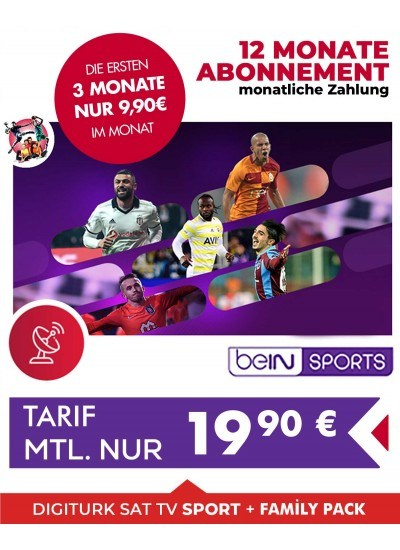 Digiturk Euro Full Sports HD monatlich 12