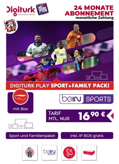 Digiturk Euro IP Full Sports monatlich 24