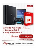 Ay Yildiz Ay Allnet Plus Bundle +PlayStation4+Samsung Tab E