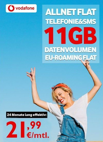 Vodafone Smart XL Sim-Only 21,99€