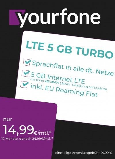 Yourfone LTE 5GB Turbo Sim Only