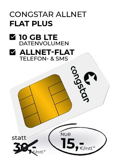 congstar Allnet Flat Plus Aktionstarif